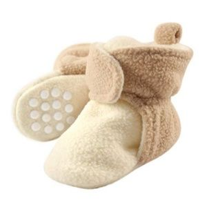 Other - Cozy Fleece Booties with Non Skid Bottom